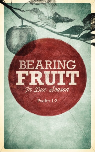 Bearing Fruit Church Bulletin Cover