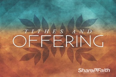 Tithes and Offerings Fall Church Video Loop