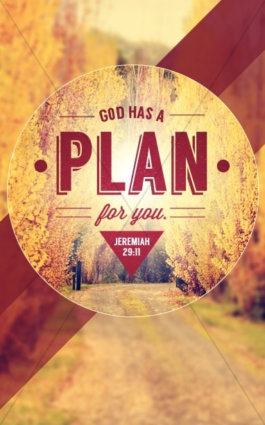 God Has a Plan Church Bulletin Cover