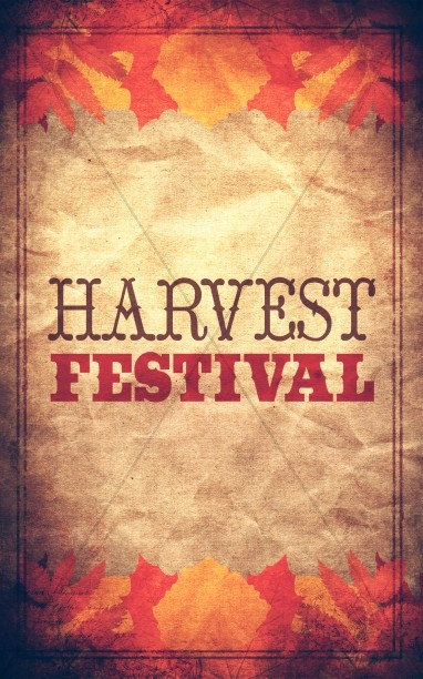 Harvest Festival Bulletin Cover