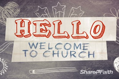 Welcome to Church Chalkboard Video Loop