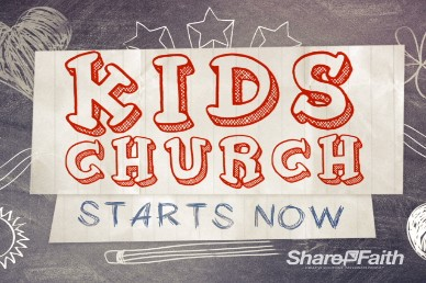 Kids Church Chalkboard Video