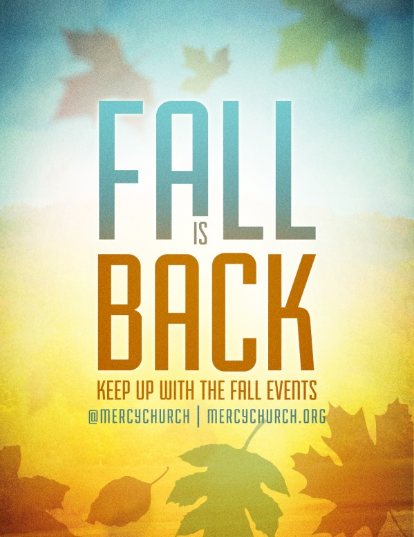 Fall Season Church Flyer