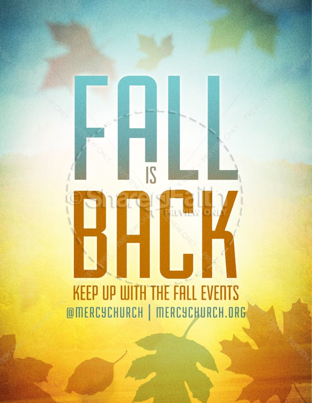 Fall Season Church Flyer Template | Flyer Templates