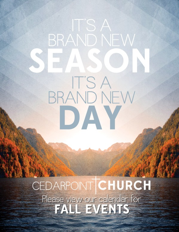 New Season Flyer Template for Church