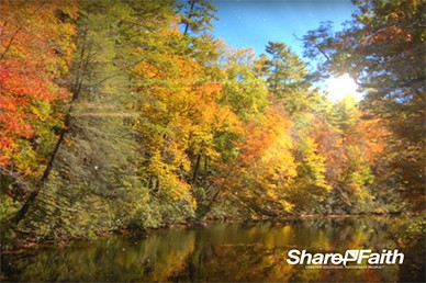 Fall Peaceful River Religious Worship Vidoe Loop