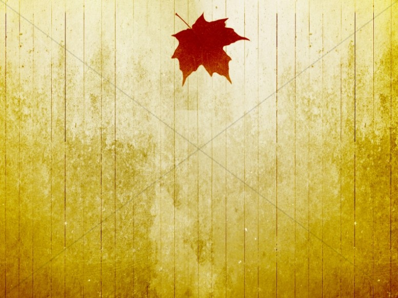 Fall Leaf Christian Background