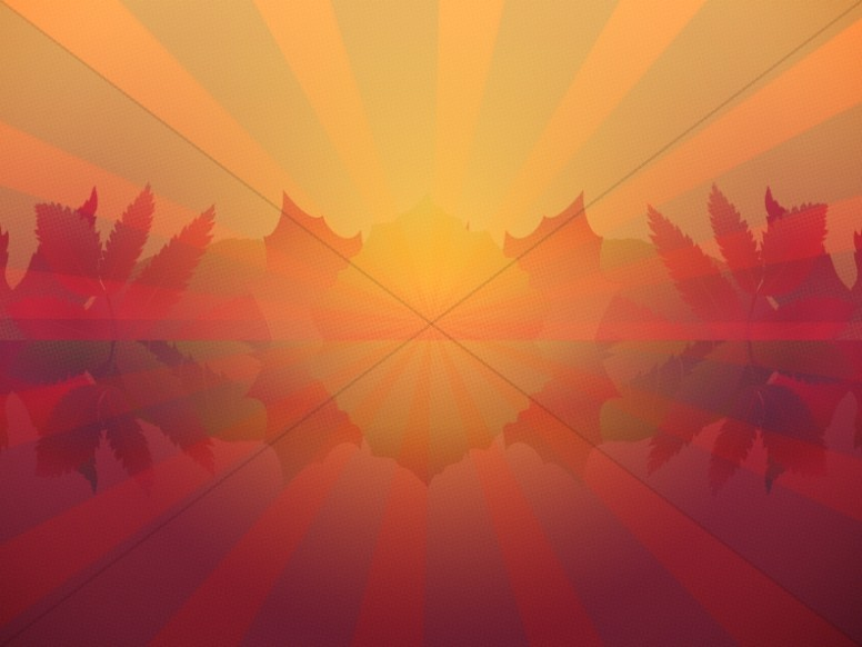Modern Autumn Sunset Church Wallpaper