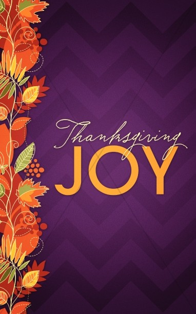 Thanksgiving Joy Christian Bulletin