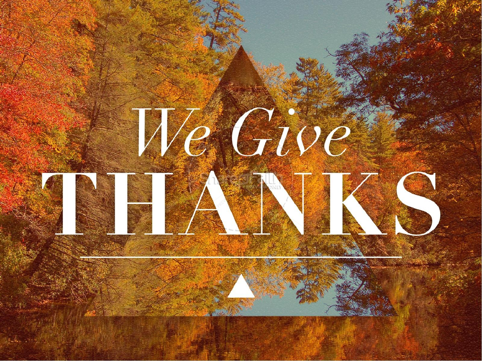 We Give Thanks Ministry PowerPoint | slide 1