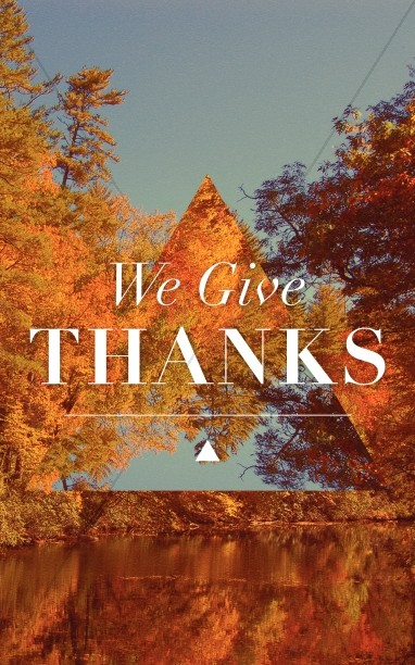 We Give Thanks Christian Bulletin