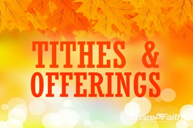 Free Fall Tithes and Offerings Church Service Video Loop