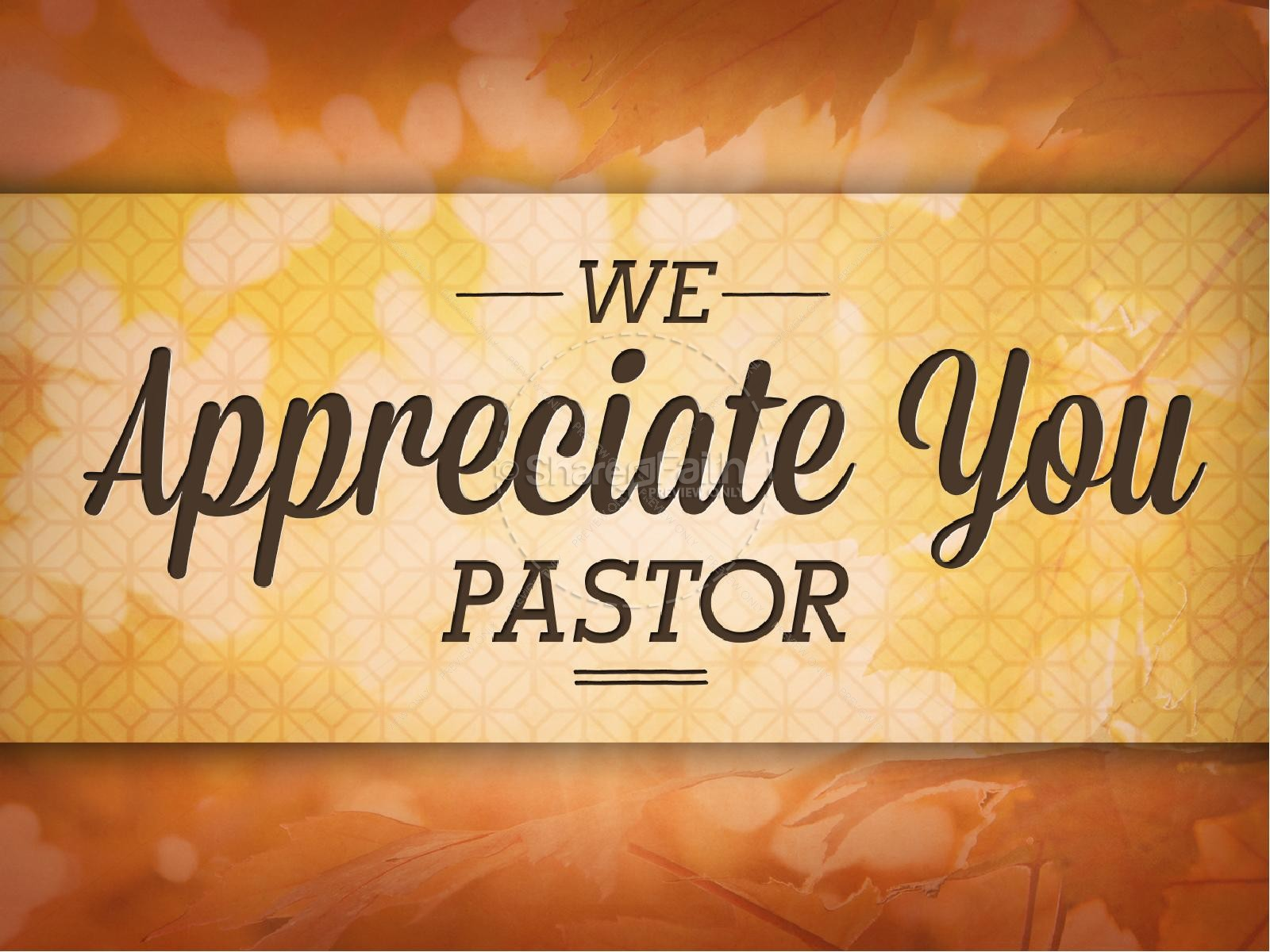 Pastor Appreciation Day Christian PowerPoint | Fall ...