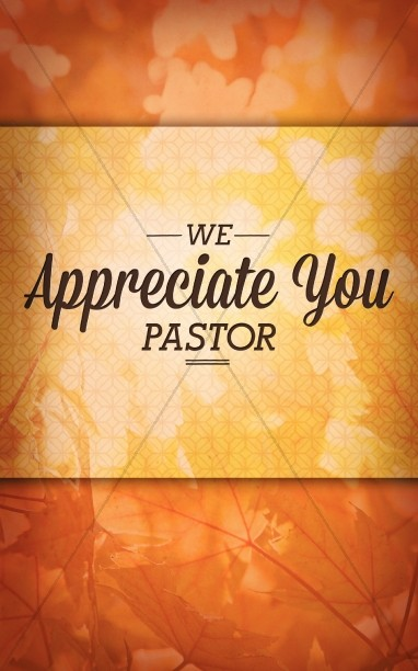 Pastor Appreciation Christian Bulletin