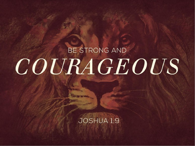 Be Strong and Courageous Church PowerPoint Template
