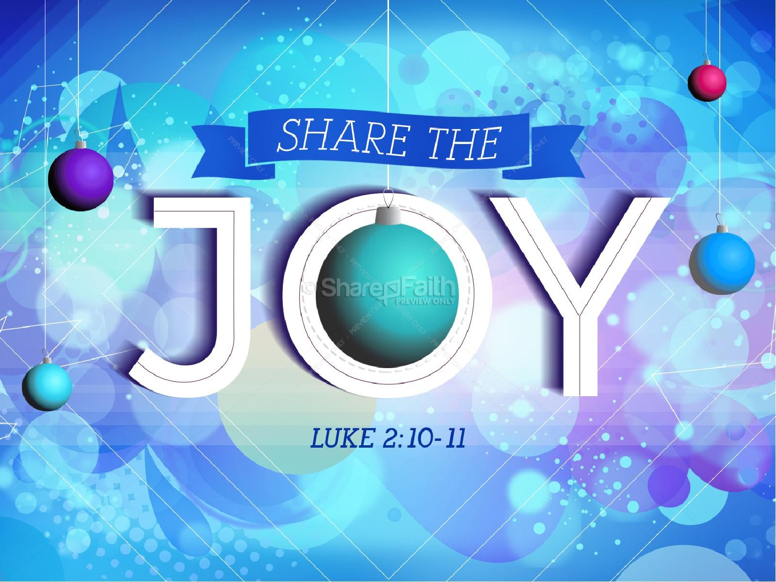 Share the Joy Christmas Christian