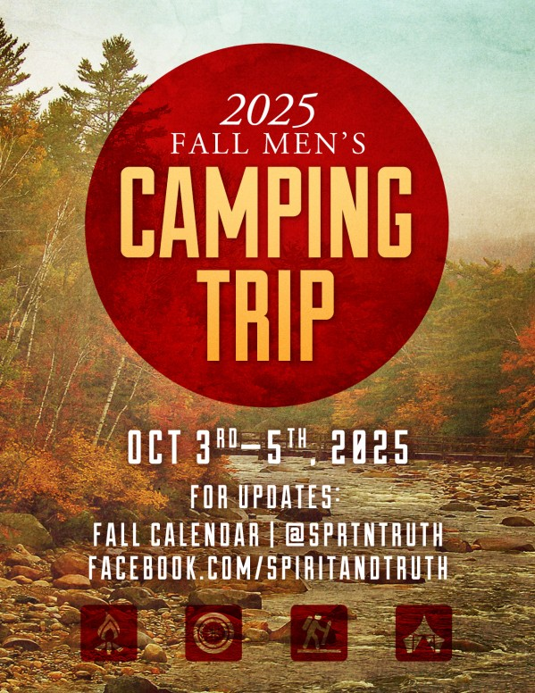 My Help Comes From You Camping Trip Ministry Flyer