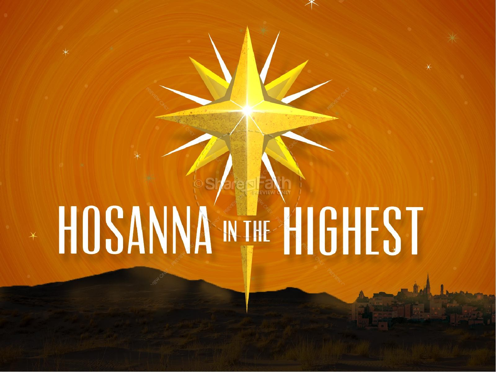 Hosanna In the Highest Religious PowerPoint
