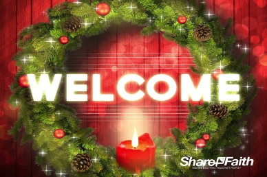 Let your Light Shine Christmas Welcome Video Loop