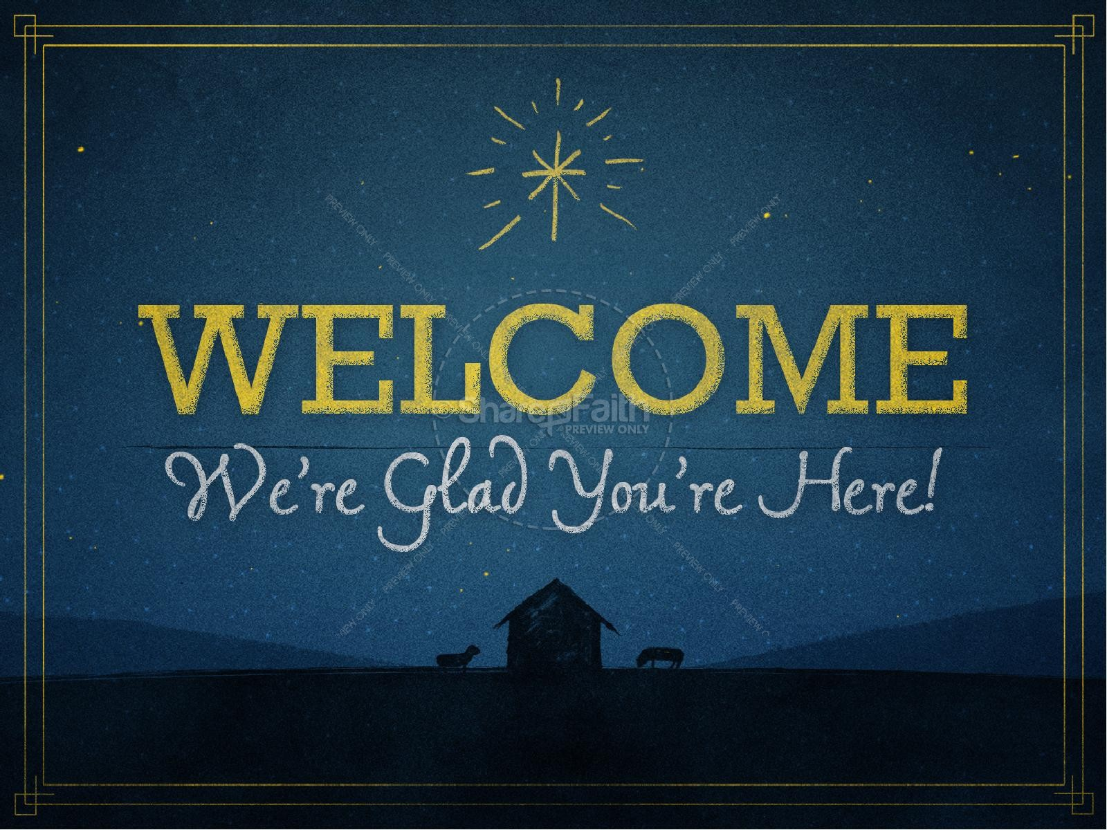 God's Gift to Us Christmas PowerPoint Template