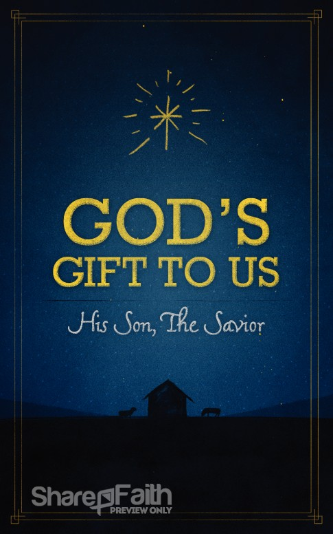God's Gift to Us Church Bulletin | Christmas Bulletins