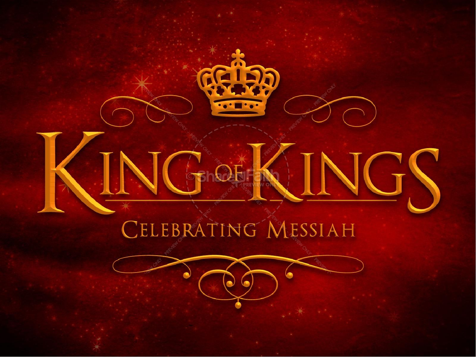 King of Kings Christmas Ministry PowerPoint | slide 1