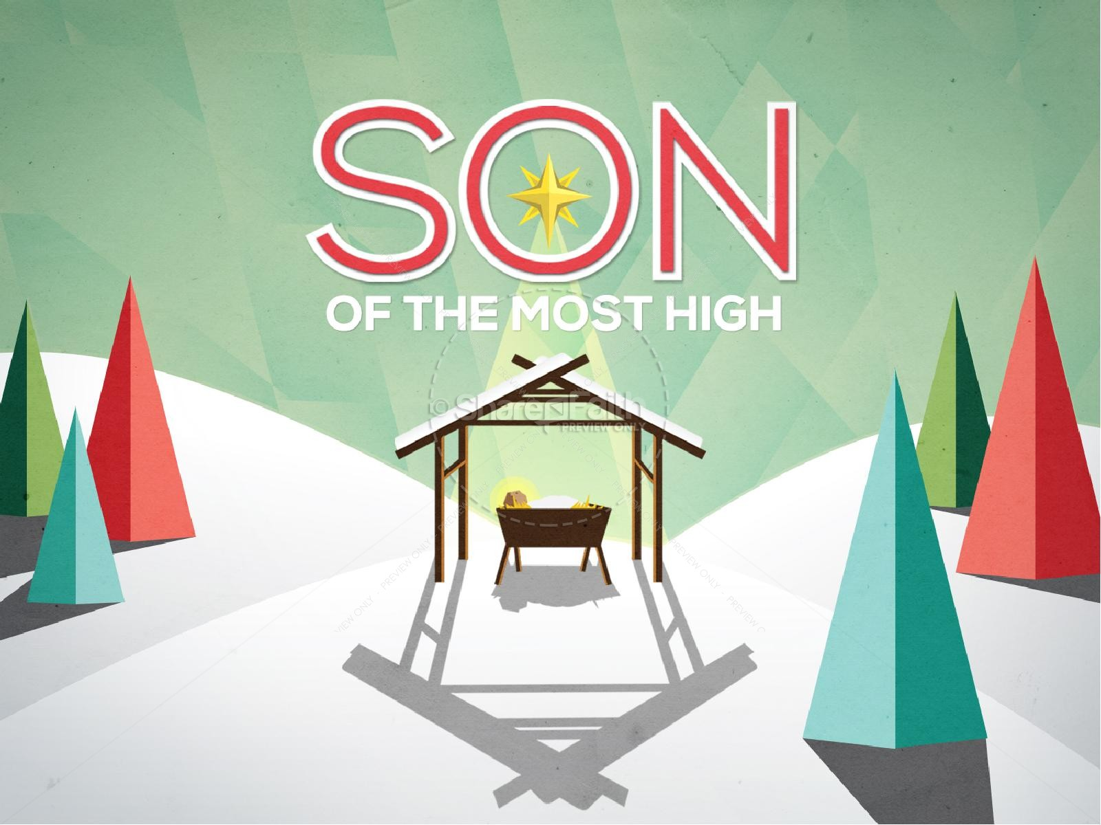 Son of the Most High Christmas PowerPoint | slide 1