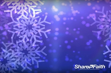 Big Christmas Snowflakes Worship Video Background