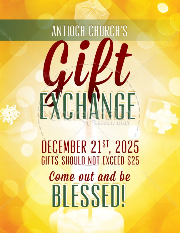 The gift exchange church flyer template flyer templates the gift exchange church flyer negle Images