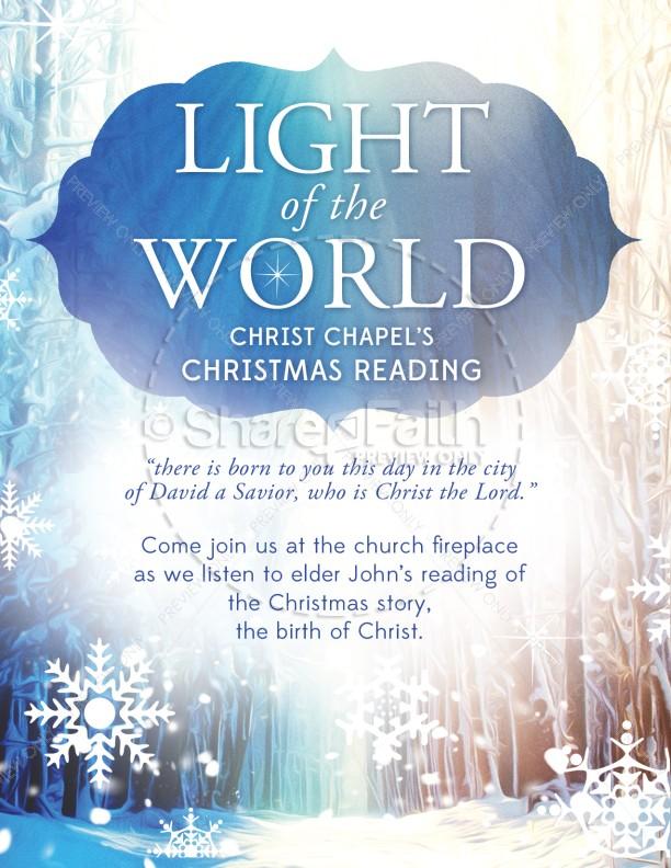 Light of the World Christmas Flyer