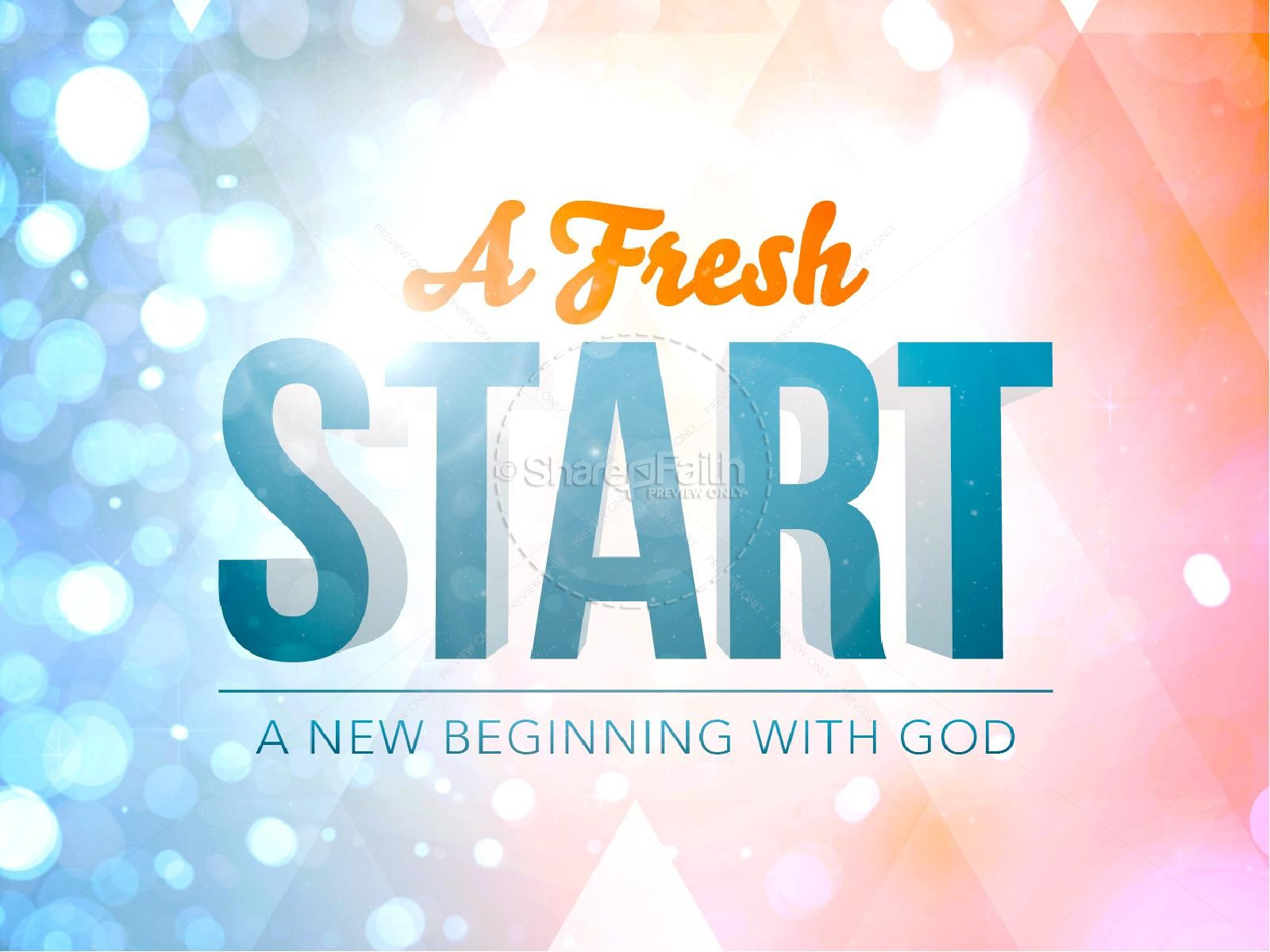 A Fresh Start Ministry PowerPoint