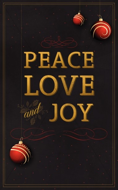 Peace Love and Joy Christmas Bulletin