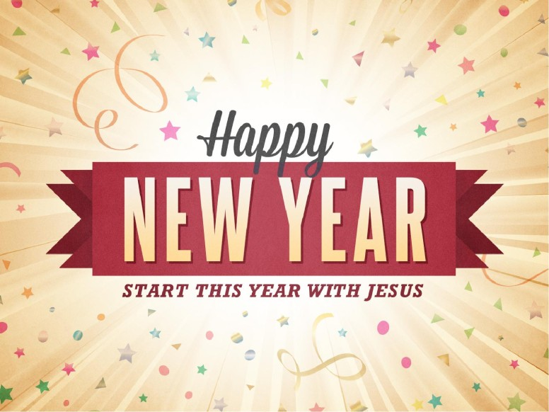 Happy New Year Burst Ministry PowerPoint