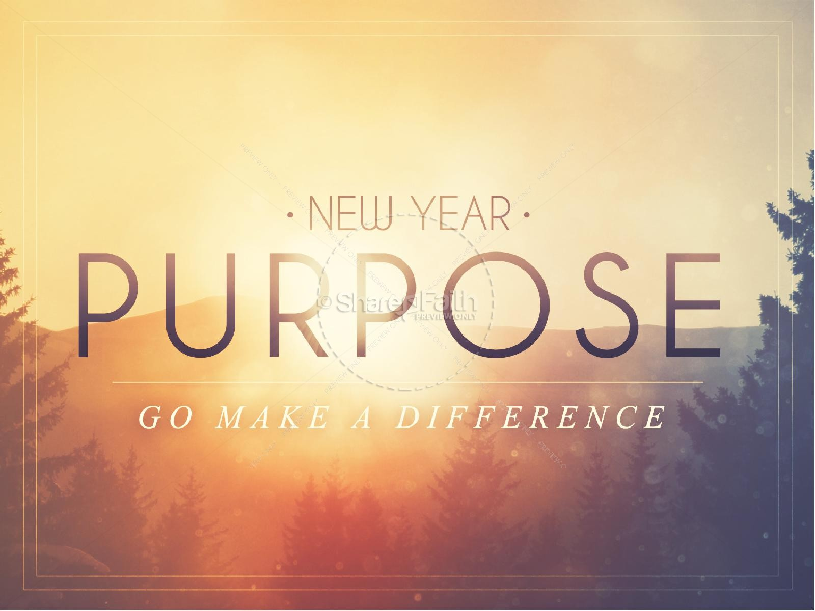 new year purpose church powerpoint
