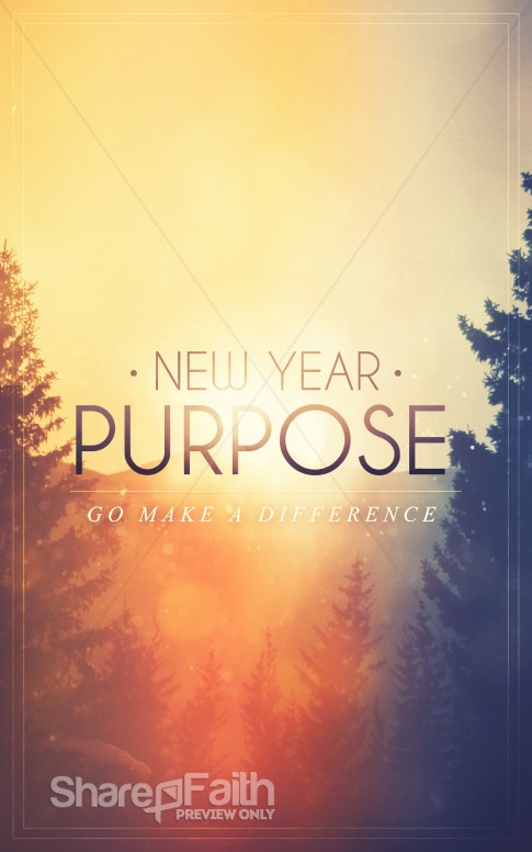 New year purpose church bulletin secular holiday bulletin covers altavistaventures Images