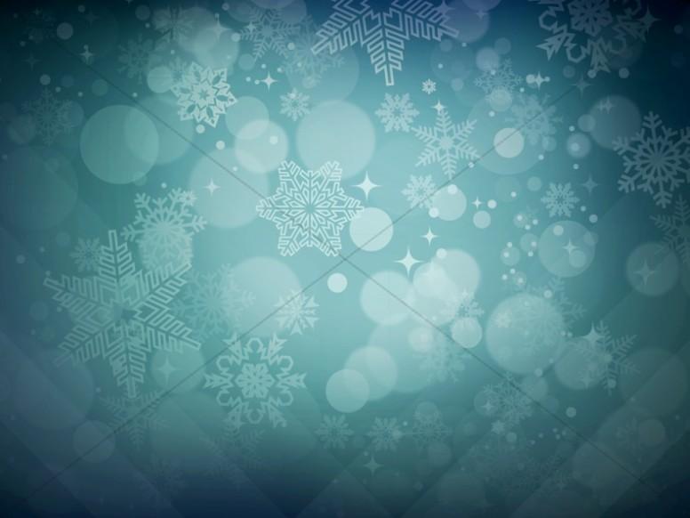 Winter Snowflakes Christmas Background