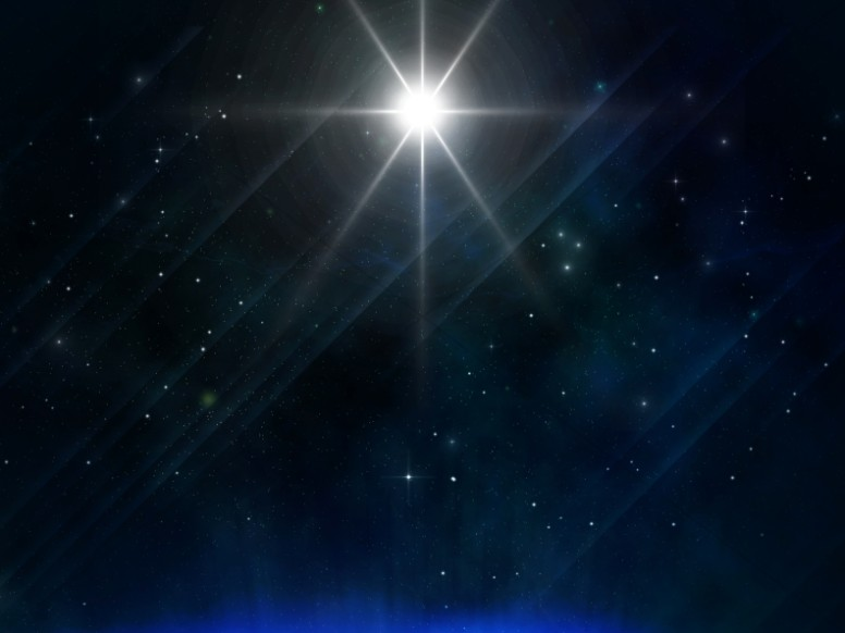 Star So Bright Christmas Background