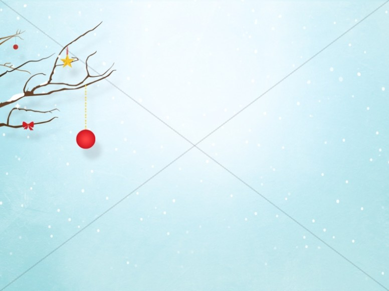 Single Red Ornament Christmas Background