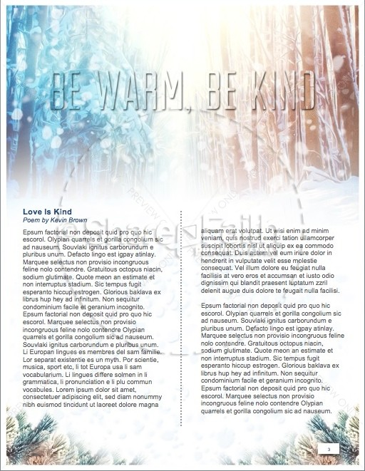 Light of the World Christmas Newsletter | page 3