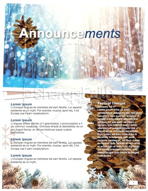Light of the World Christmas Newsletter