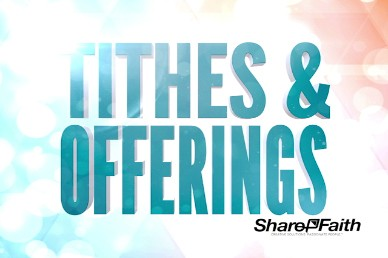 A fresh Start Ministry Tithes and Offerings Video