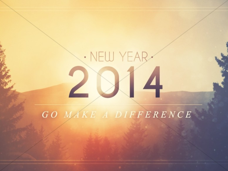 2014 happy new year background slide