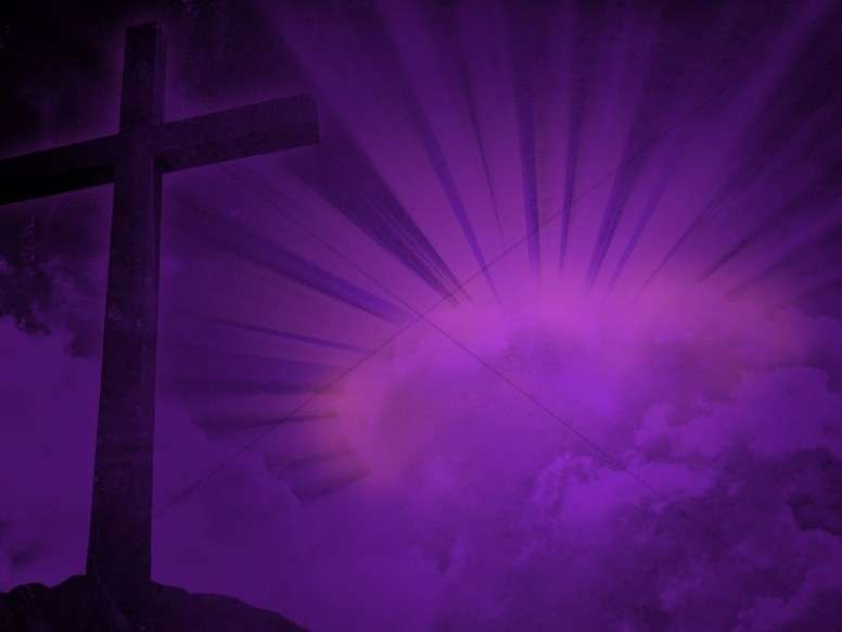 Cross Design Christian Background Purple Brilliance