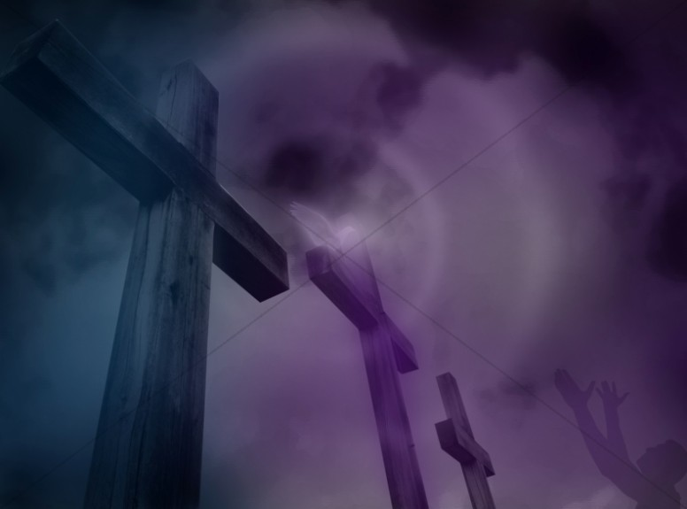 Cross Design Christian Background Three Crosses