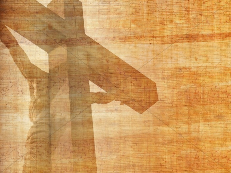 Cross Design Christian Background Wood Grains