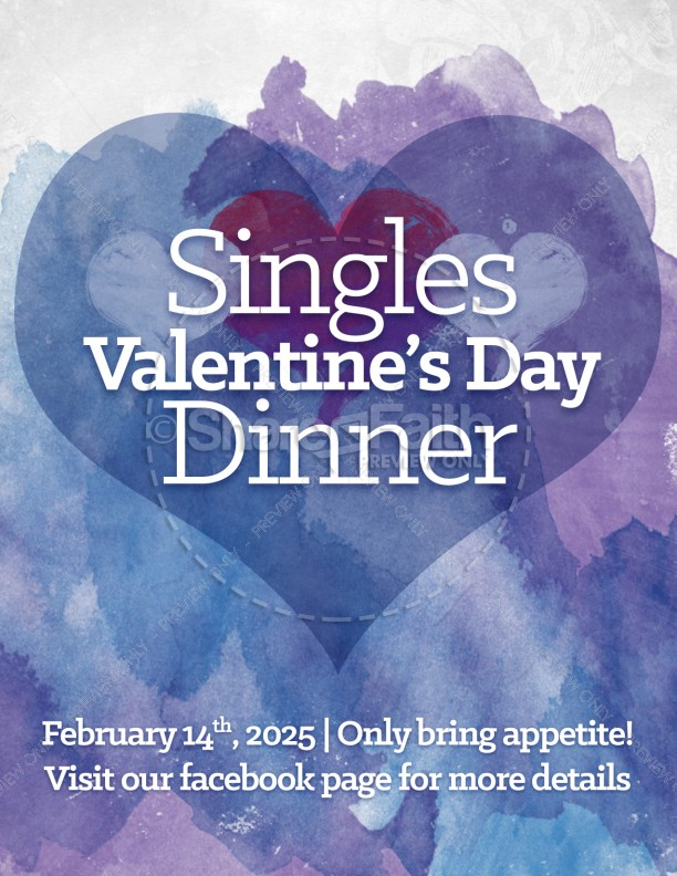 Love One Another Valentine S Day Church Flyer Template Flyer Templates
