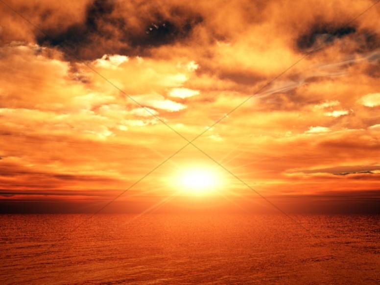Orange Cloudy Sunset Ministry Background