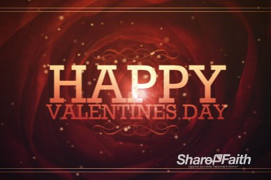 Happy Valentines Day Service Video Motion Loop