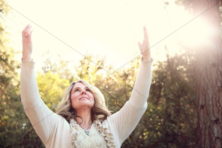 Woman Worship Christian Stock Photo