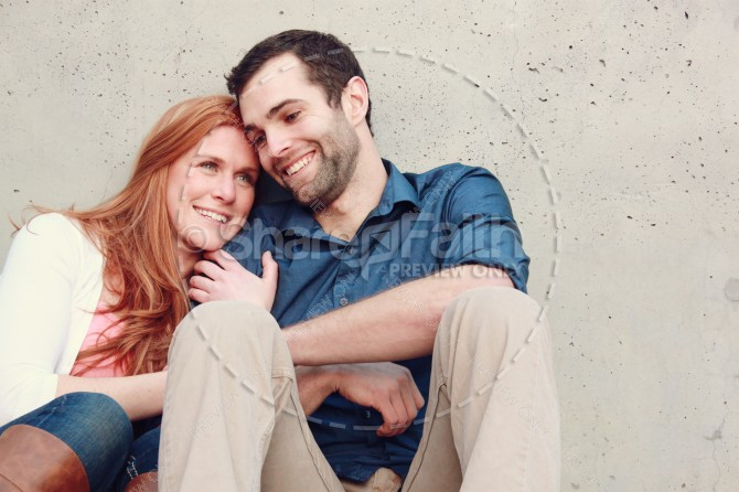 Valentines Day Couple Ministry Stock Photo Sitting